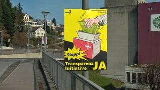 Der Schwyzer Kantonsrat genehmigt das Transparenzgesetz