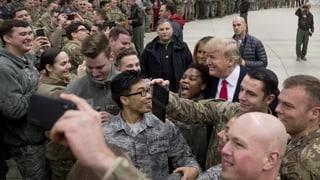 Trump und First Lady überraschen US-Truppen im Irak