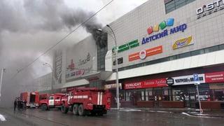 Mehr als 60 Tote bei Feuer in russischem Einkaufszentrum