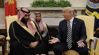 Donald Trump liefert Waffen nach Saudi-Arabien