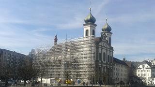 Die Sanierung der Jesuitenkirche schreitet voran