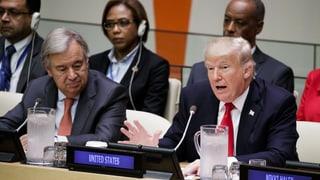 Trump übt erneut scharfe Kritik an der UNO