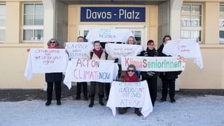 Eine süsse Protestnote in Davos