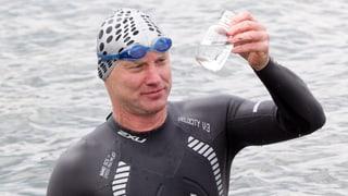 Zweiter Rheinschwimmer unterwegs