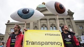 Cunter TISA e TTIP – demonstraziun a Berna