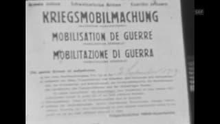 Die Kriegsmobilmachung in Herisau gefilmt