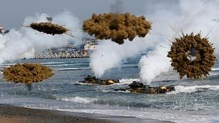 Schüsse an koreanischer Seegrenze