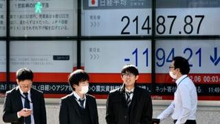 Der Dow Jones schloss mit einem Tagesverlust von knapp 1600 Zählern.