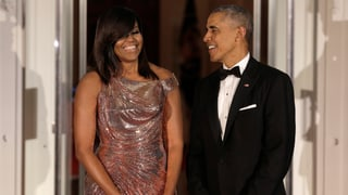 Mamma mia, Michelle: Die First Lady verzauberte im Glitzerkleid