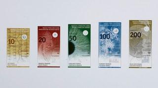 Neue Schweizer Banknoten treiben endlich Blüten