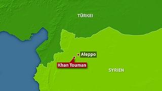 Über 70 Tote bei Kämpfen nahe Aleppo