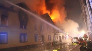 Mindestens acht Tote bei Grossbrand bei Stuttgart