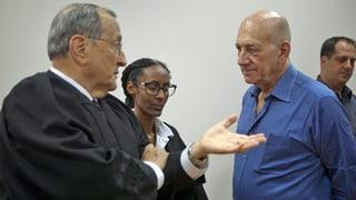 Acht Monate Haft für Israels Ex-Premier Olmert