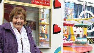 Älteste Kassiererin an Basler Herbstmesse im Dienst für «Calypso»