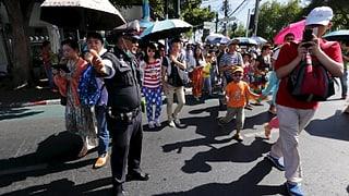 Keine Panik bei Schweizer Touristen in Bangkok