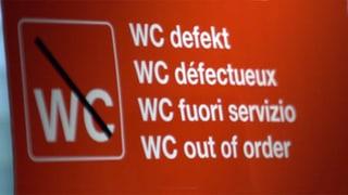 Video «Zug-Toiletten drücken auf die Blase» abspielen