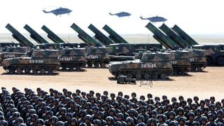 China zeigt seine militärische Macht