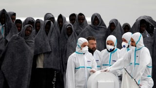 Weniger Flüchtlinge in Italien gelandet