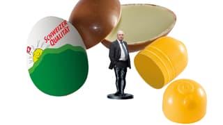 Sinnvolle Wahl-Gadgets: Blocher aus dem Ei