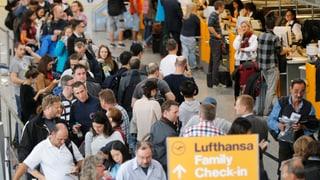 Rund 60'000 Passagiere von Lufthansa-Streik betroffen