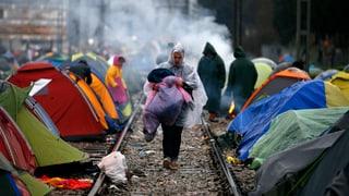 Kein Weiterkommen für Flüchtlinge
