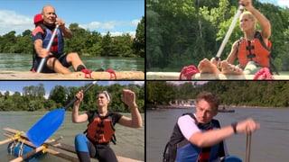 «Das Goldene Floss» – vier Süsswassermatrosen auf der Aare (Artikel enthält Video)