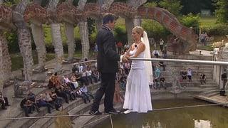 Auf dem Hochseil: Freddy Nock hat seine Ximena geheiratet
