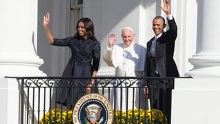 Von Castro zu Obama: Papst im Weissen Haus