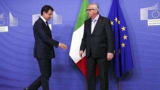 Italien lenkt im Schuldenstreit ein