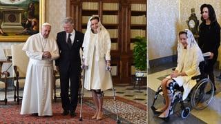 Royaler Krückenbesuch beim Papst