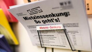 Zürcher Mieterverband verlangt Mietzinssenkungen