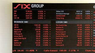 SMI fällt nach Aufhebung des Euro-Mindestkurses auf 8400 Punkte