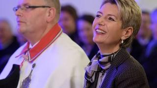 Grosser Empfang für Karin Keller-Sutter