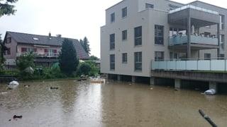 Dauerregen: «Land unter» in Teilen der Schweiz