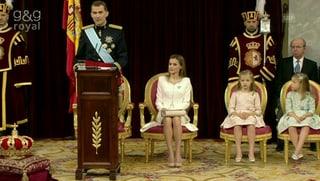 Die ersten Worte des neuen Königs: Das war Felipes Antrittrede