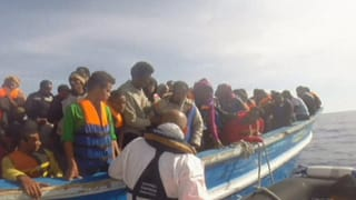 Über 6000 gerettete Flüchtlinge an einem Wochenende