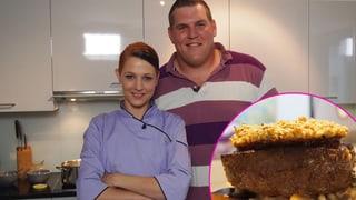 Christian Stucki: Pferdefilet mit Erdnusskruste auf Risotto