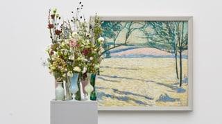 Blumenschmuck für Cuno Amiets Winterlandschaft in Aarau