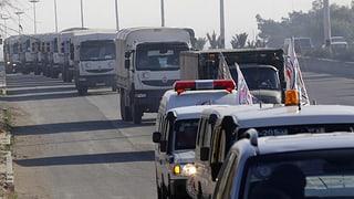 Neue Hilfslieferungen für eingeschlossene Syrer