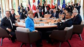 Die Gespräche auf Schloss Elmau haben begonnen