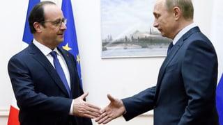 Hollande trifft Putin: Hoffnung auf schnellen Waffenstillstand