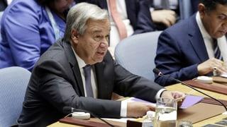UNO-Generalsekretär warnt vor humanitärer Katastrophe