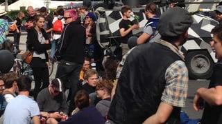 Friedliche Protestaktionen auf Basler Messeplatz