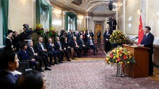 Präsident Xi Jinping im Bundeshaus empfangen