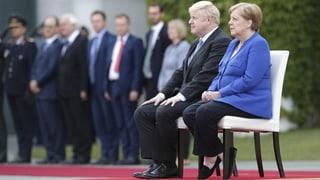 Johnson von Merkel zu schwierigen Brexit-Beratungen empfangen