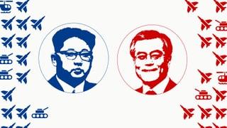 So sieht das Waffenarsenal von Nord- und Südkorea aus