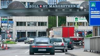 Mehr Lastwagenverkehr am Zoll in St. Margrethen