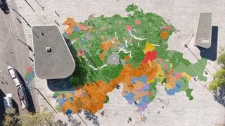 Wie haben die Gemeinden in den letzten 40 Jahren gewählt? Ein Kantonshauptort fällt als besonders durchschnittlich auf.