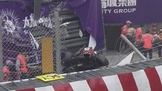 Horror-Crash in Macao mit 250 km/h