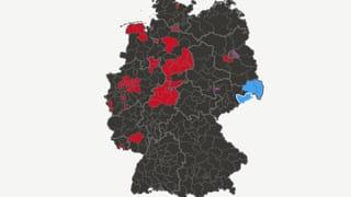 Die Resultate aus den einzelnen Wahlkreisen in der grafischen Übersicht.